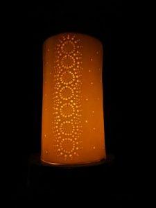 Lanterne en porcelaine