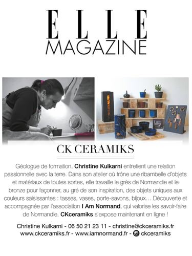 CKceramiks - article ELLE Magazine